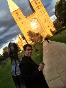 Nathaniel Boyd with a wonky Minster!