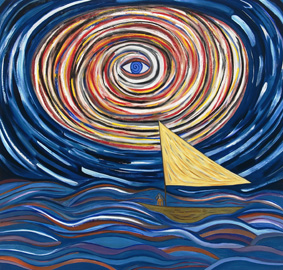 'Eye of the Storm', 2007, oil on linen, by Susan Bee